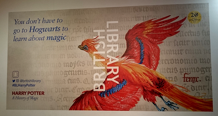 Exhebition poster on the wall of the British Library.
