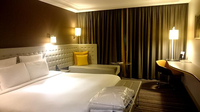 Photo of hotel room.